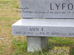 Ann F <I>French</I> Lyford