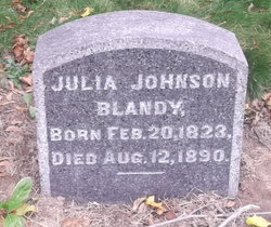 Julia <I>Johnson</I> Blandy