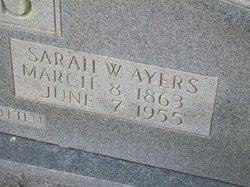 Sarah Jane <I>Westmoreland</I> Ayers
