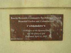 Rancho Bernardo Presbyterian Church Columbarium