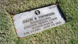 Capt Arch B Thomson