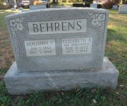 Elizabeth R <I>Bomgardner</I> Behrens