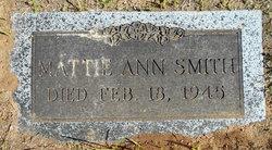 """Martha Ann """"Mattie"""" <I>Renfroe</I> Smith"""