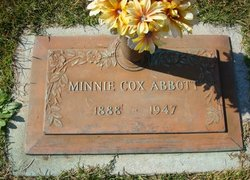 Minnie <I>Cox</I> Abbott