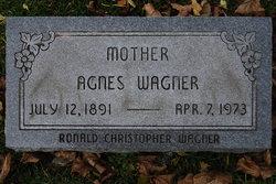 Agnes Amelia Wilhelmina <I>Stieden</I> Wagner