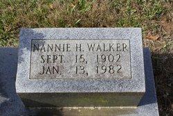Nannie H Walker
