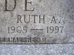 Ruth Adeline <I>Woodyard</I> Cade