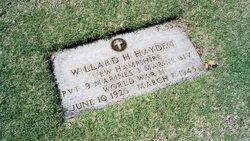 Pvt Willard H Hayden