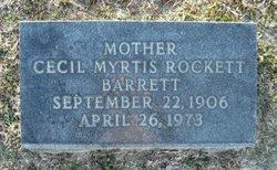 Cecil Myrtis <I>Rockett</I> Barrett