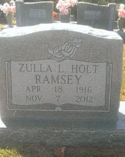 Zulla Lee <I>Holt</I> Ramsey