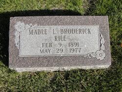 Mabel L <I>Broderick</I> Kile