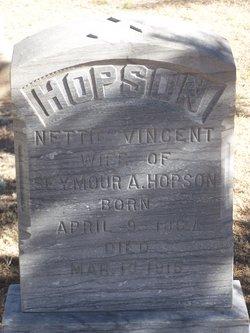 Nettie M. <I>Vincent</I> Hopson