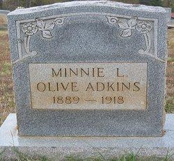 Minnie L <I>Olive</I> Adkins