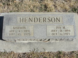 Iva May <I>Johnson</I> Henderson