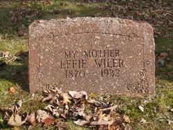 Effie <I>Willis</I> Wiler
