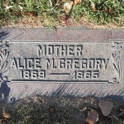 Alice Matilda <I>Spillett</I> Gregory