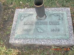 Sarah Delphie <I>Daniels</I> Willis