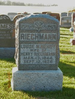 """Louisa Wilhelmina """"Minnie"""" <I>Niehoff</I> Riechmann"""