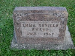 Emma <I>Neville</I> Kyser