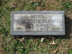 Nannie <I>Henderson</I> Burgess