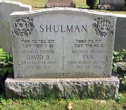 Eva <I>Rutman</I> Shulman