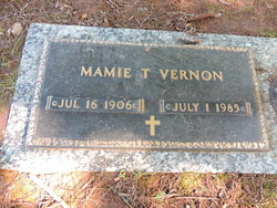 Mamie <I>Tedder</I> Vernon