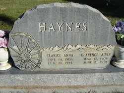 Clarice Anna <I>Elm</I> Haynes