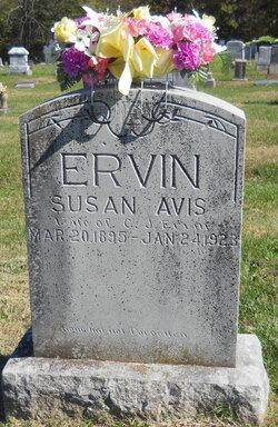 Susan Avis <I>Holder</I> Ervin