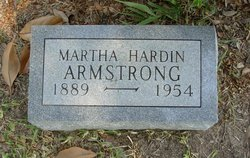 Martha Louise <I>Hardin</I> Armstrong