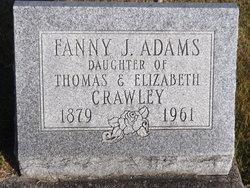 Fanny J <I>Crawley</I> Adams