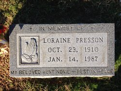 """Loraine """"Nonie"""" Presson"""