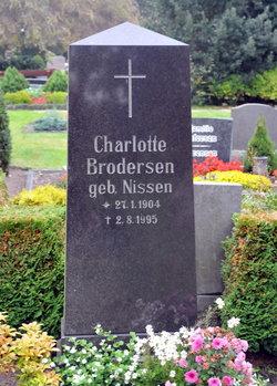 Charlotte <I>Nissen</I> Brodersen