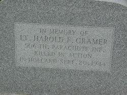 1LT Harold F Cramer