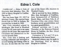 Edna I <I>Welch</I> Cole
