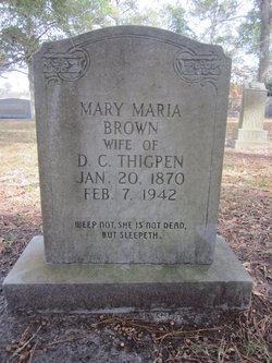 Mary Maria <I>Brown</I> Thigpen