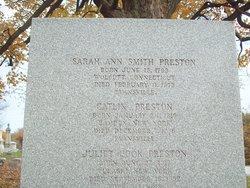 Sarah Ann <I>Smith</I> Preston