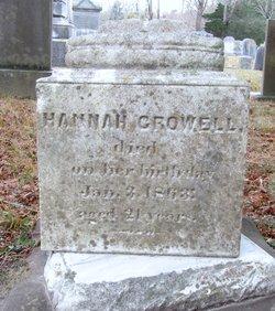 Hannah A Crowell