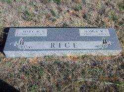 Homer W Rice