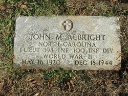 Lieut John M Albright