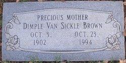 Dimple <I>Van Sickle</I> Brown