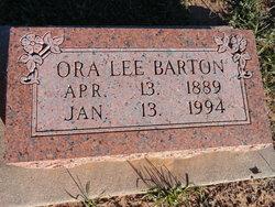 Ora Lee <I>Carpenter</I> Barton