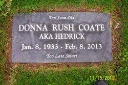Donna Rush <I>Coate</I> Hedrick