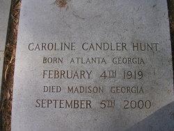 Caroline Harder <I>Candler</I> Hunt