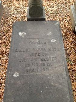 Sallie Olivia <I>Hays</I> Hester