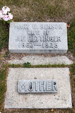 Mary E <I>Harris</I> Hettinger