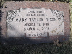 Mary Addie <I>Taylor</I> Nixon