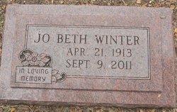 Jo Beth <I>Horton</I> Winter