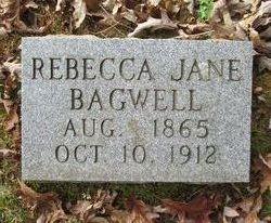 Rebecca Jane <I>Reid</I> Bagwell