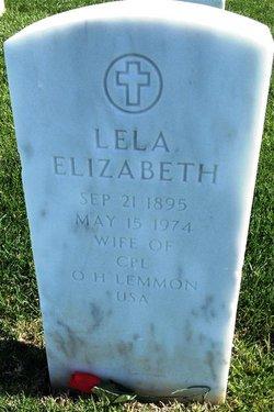Lela Elizabeth <I>Garoutte</I> Lemmon
