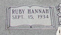 Ruby <I>Hannah</I> Bagwell